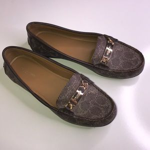 COACH Olive Style Brown Loafer Size 9 B Ladies